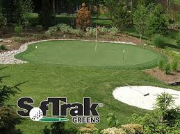 Putting Turf In Backyard Dfw And Court Surfacing Softrak Backyard Putting Greens