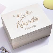 personalised keepsake box large personalised wedding keepsake box by