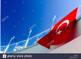 Green Flag With Star And Moon The Flag Of Turkey Red With A White Crescent Moon And A Star In