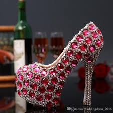wedding shoes rhinestones fuchsia diamonds women wedding shoes rhinestones bridal