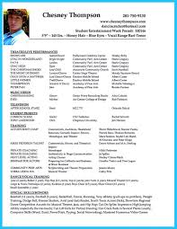 Actor Resume Format Brilliant Acting Resume Template To Get Inspired