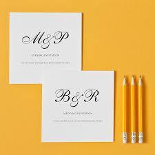 monogram wedding invitations monogram wedding invitation by twenty seven notonthehighstreet