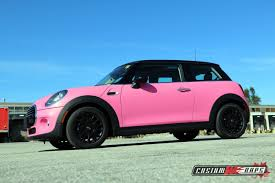 matte pink car mini cooper matte pink customwraps ca