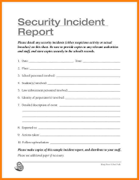 Computer Security Incident Report Template by Sle Incident Reports Incident Reporting Procedure Template