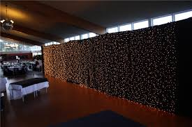 curtain made of lights decorate the house with beautiful curtains