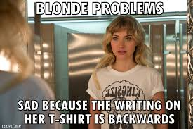 Funny Blonde Memes - wtf need for speed 2014 1 2 3 wtf watch the film