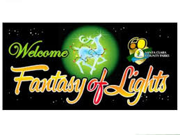 dec 10 fantasy of lights drive thru vasona lake county park