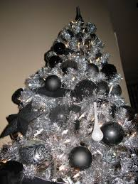 black and silver decorated tree heavenly black silver