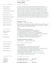 Chef Resume Templates by Culinary Resume Templates 51 Images Sous Chef Cv Sle Entry