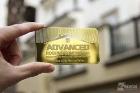 brass finish card for roofing company 453190 world leader in