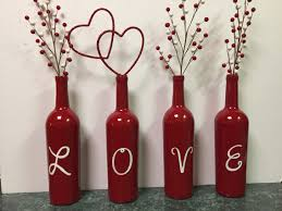Valentines Day Decor Valentine U0027s Day Wine Bottles Bottles Pinterest Bottle Wine