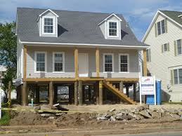 Small Beach House On Stilts New Jersey House Raising Guide And Faq Rebuild Nj