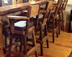 bar stools rustic etsy