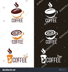 Coffee Cup Design by Coffee Cup Coffee Bean Logo Vector Stock Vector 344310359