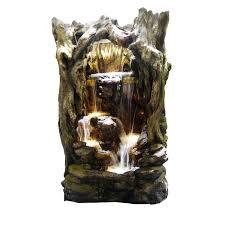 waterfall home decor adagio aspen falls 54 in wall fountain hayneedle