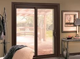 Brown Patio Doors Aeris Patio Series Patio Doors Sliding Door Back Door
