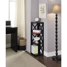 convenience concepts oxford 3 tier corner bookcase walmart com