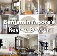 benjimin moore 12 rooms painted in benjamin moore revere pewter interiors by color