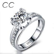 luxury engagement rings 1 5 carat aaa cz simulated diamond wedding rings for women white