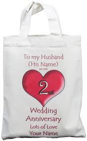 2nd wedding anniversary gifts for personalised 2nd wedding anniversary to my husband small