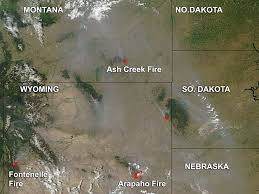 Map Of Wyoming And Montana by Nasa Smoke And Fires In Montana And Wyoming
