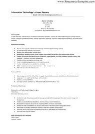 Resume For Lecturer In Engineering College Resume Sles For Lecturer In Engineering College 100 Images