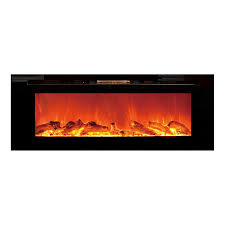 Wall Mounted Electric Fireplace Shop Touchstone 50 4 In W 5118 Btu Black Wall Mount Electric