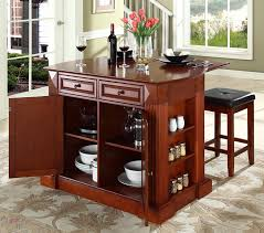 kitchen island with bar top buy breakfast bar top kitchen island with cherry square seat stools