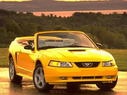 Yellow Mustang With Black Stripes Ford Mustang History 1999 Shnack Com