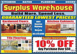 Surplus Warehouse Cabinets Kitchens Baths Flooring Doors Build More Spend Less At