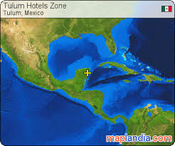 tulum map tulum hotels zone tulum satellite map