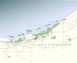 Map Indiana Indiana Dunes Country Interactive Travel Map Indiana Dunes