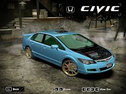 ricer honda need for speed most wanted honda civic fd nfscars