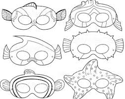 printable fish mask etsy