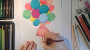 speed drawing a with balloons youtube