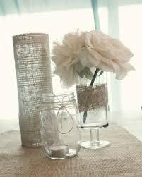 Simple Vase Centerpieces Elegant Wedding Reception Centerpieces Burlap Wrapped Vases Mason Jars