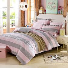 Duvet Without Cover Beautiful Dull Grey And Pink Cotton Bedding Set Ebeddingsets