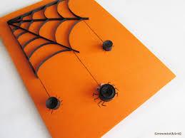 halloween spider card quilled black spider web card blank