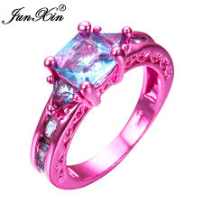 pink wedding rings jewelry rings pink weddingings for women diamond sapphire