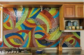 18 gleaming mosaic kitchen backsplash designs view in gallery large mosaic backsplash in very bright colors