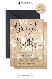 bridal shower brunch invitation wording bokeh brunch bubbly invitation chagne bridal shower gold