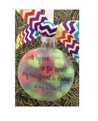 items similar to glass bestfriends ornament side