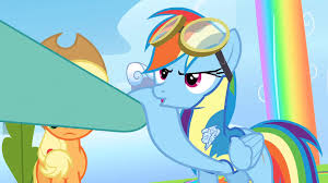 image rainbow dash is not cool with lightning s3e07 png my