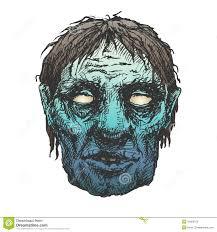 halloween monster mask drawing stock illustration image 42000215