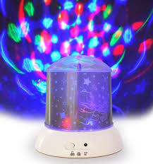 Rotating Night Light Projector Mini Dream Coloured Rotating Projection Lamp Hello Kitty Logon