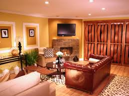 Living Rooms With Dark Brown Leather Furniture Awesome Bright Paint Colors For Living Room With Trends Picture