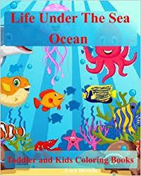 toddler coloring books sea ocean kids coloring