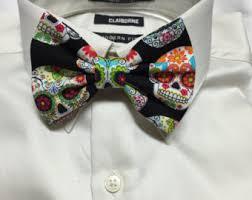 sugar skull bow tie etsy