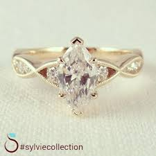 marquise diamond engagement ring vintage marquise diamond engagement ring from sylvie engagement
