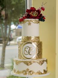 White And Gold Indian Wedding Cake Indian Weddings Cake By Soma